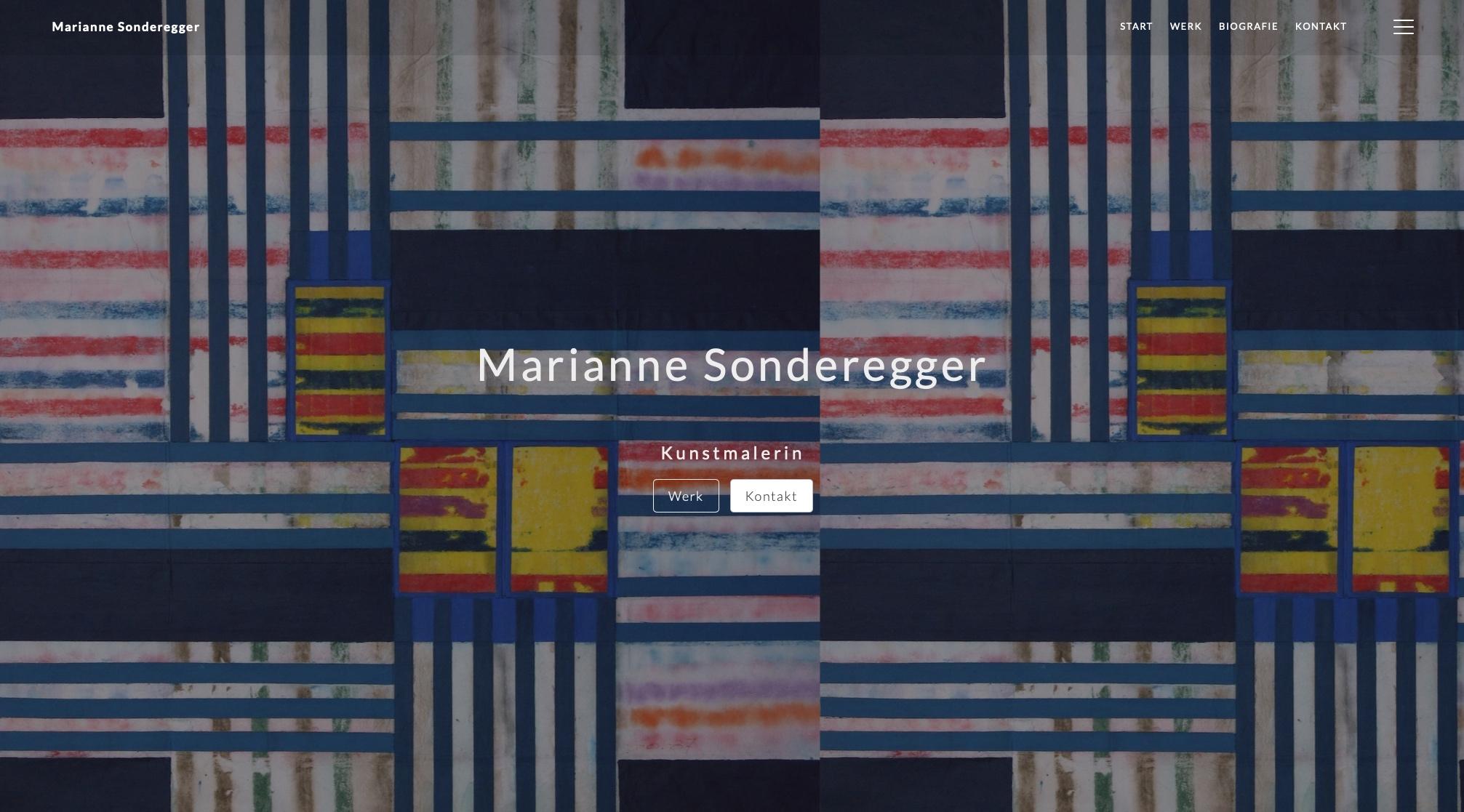 WordPress Webseite Kunstmalerin Marianne Sonderegger 1